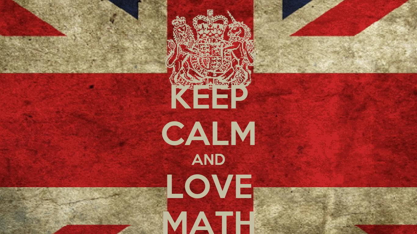 KEEP CALM AND LOVE MATH Poster   mathematic   Keep Calm-o ...