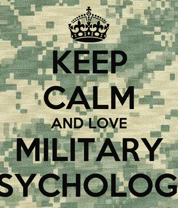military psychology Use this easy to follow article detailing what a military psychologist is and what  they do an the steps to become a military psychologist also find information.