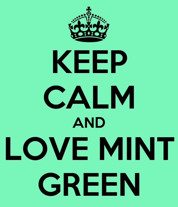 keep calm and love mint green poster nicole keep calm. Black Bedroom Furniture Sets. Home Design Ideas