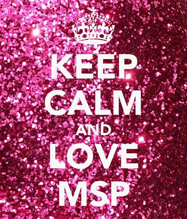 Keep calm and love msp poster eyl 252 l msp keep calm o matic