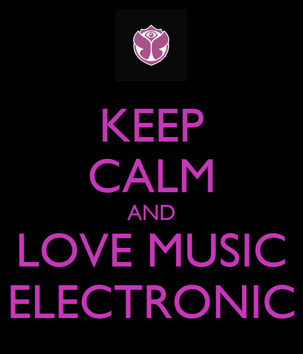 I Love Electronic Music Wallpaper