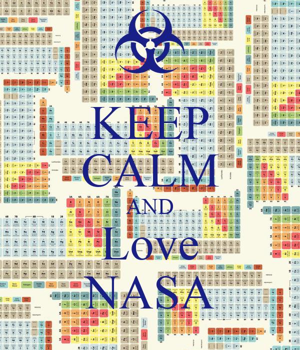 KEEP CALM AND Love NASA Poster | Diego | Keep Calm-o-Matic