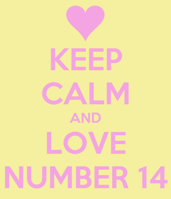 Le jeu des numéros en image Keep-calm-and-love-number-14