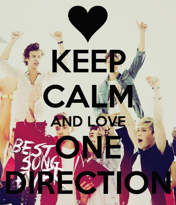 Keep Calm And Love One Direction Poster Arielle