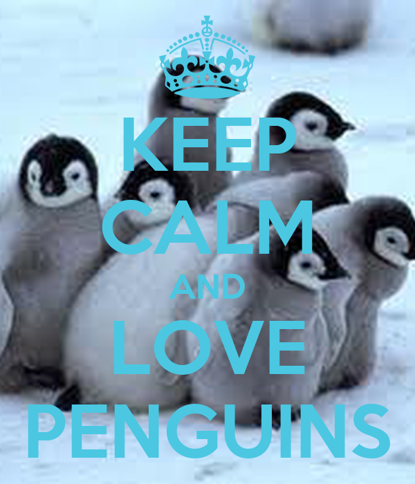 keep calm and love penguins poster caterina keep calm