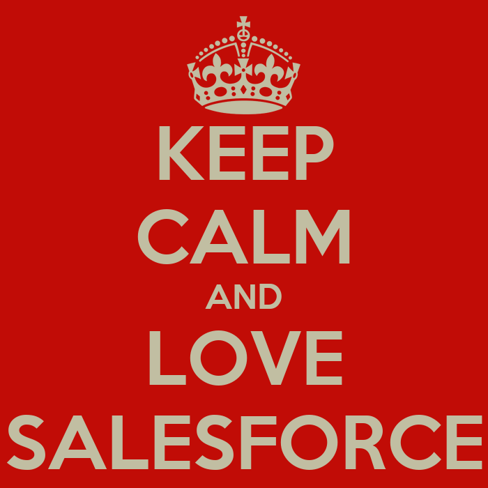 Keep calm and love salesforce poster d keep calm o matic for Salesforce free t shirt