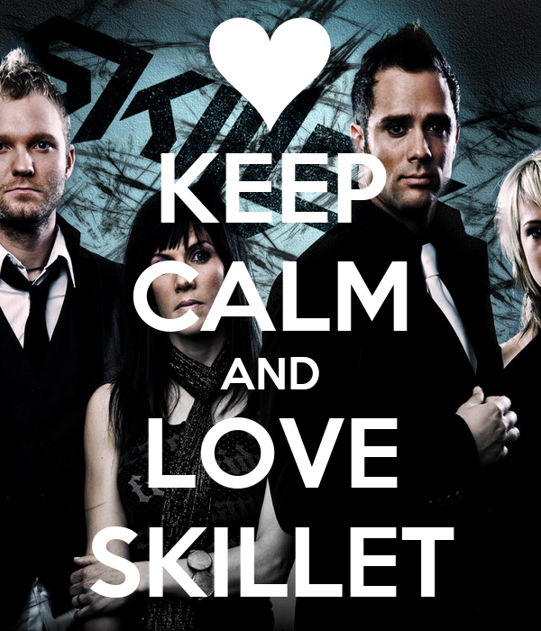 KEEP CALM AND LOVE SKILLET Poster | thedorkjanae07 | Keep Calm-o-Matic