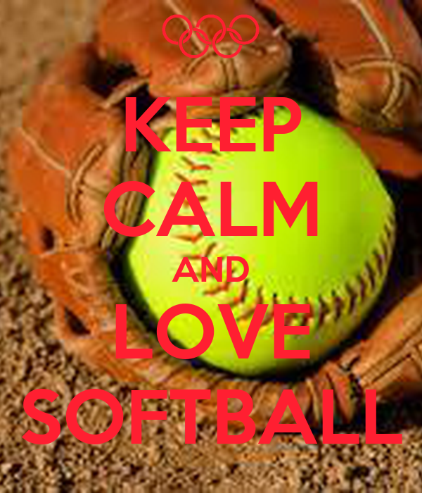 keep calm and love softball poster softie ball keep