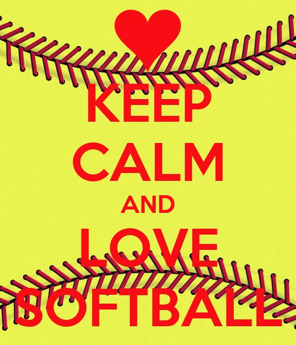 keep calm and love softball poster kasey d keep calm