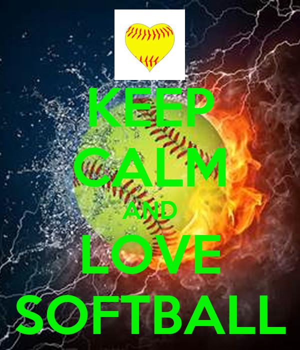 keep calm and love softball keep calm and carry on image