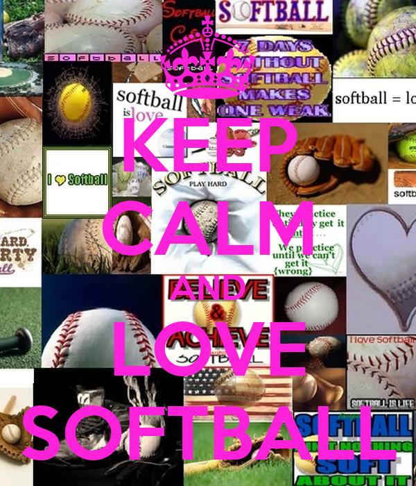 keep calm and love softball poster alexa keep calmomatic