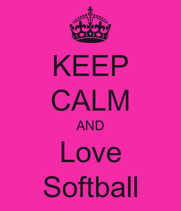 keep calm and love softball poster aliyah keep calmo
