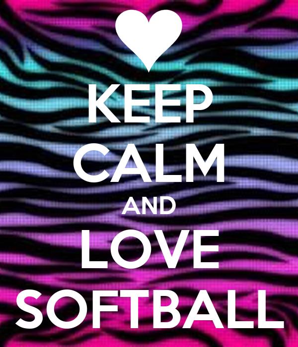 keep calm and love softball poster sarah rello keep