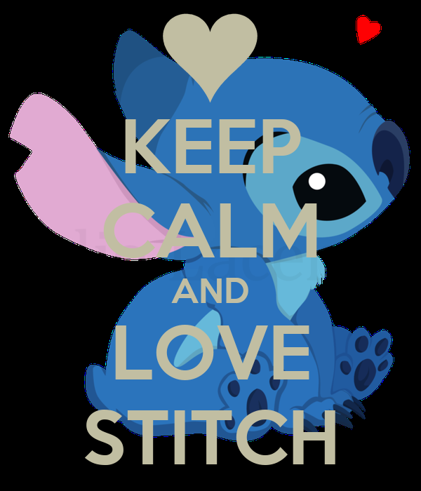 KEEP CALM AND LOVE STITCH Poster | Vintage