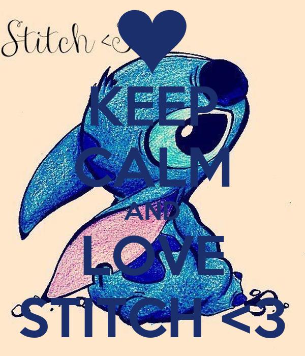 Stitch i love you