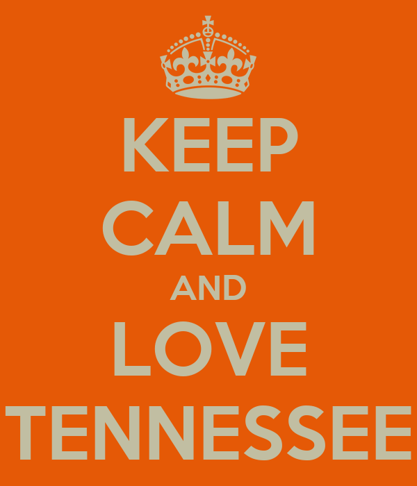 KEEP CALM AND LOVE TENNESSEE Poster