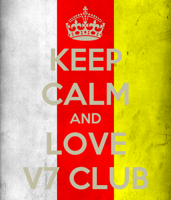 keep calm and love v7 club poster kazik keep calm o matic. Black Bedroom Furniture Sets. Home Design Ideas