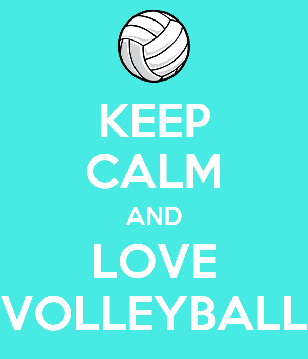 KEEP CALM AND LOVE VOLLEYBALL - KEEP CALM AND CARRY ON ...