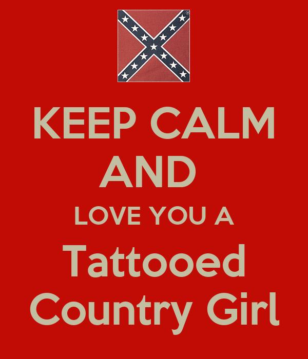 Keep calm and love a tattooed girl