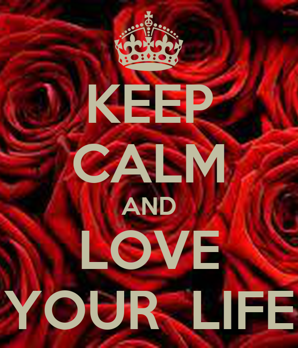 KEEP CALM AND LOVE YOUR LIFE Poster | Nav | Keep Calm-o-Matic