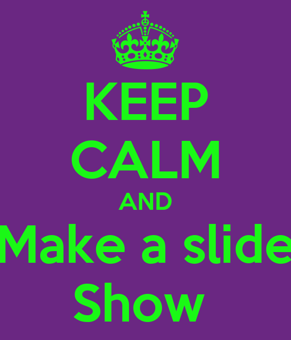 how to make slide show with musci