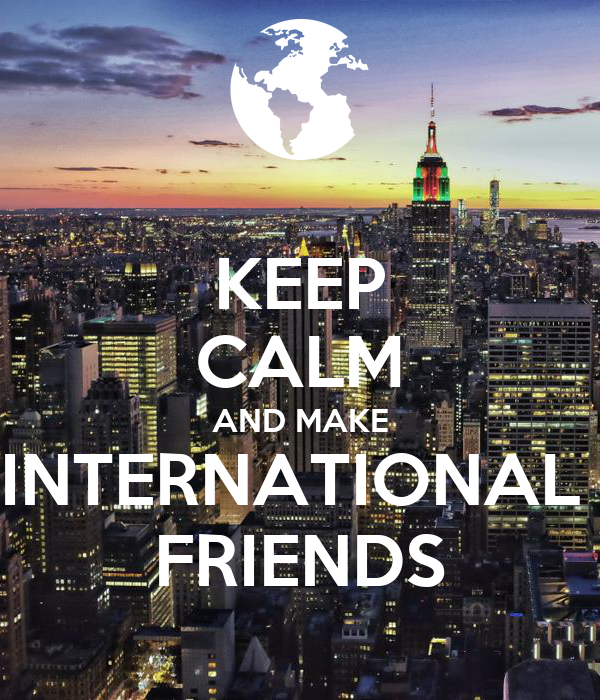 make international friends