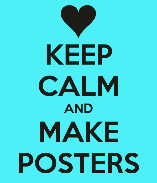 Make a poster for presentation
