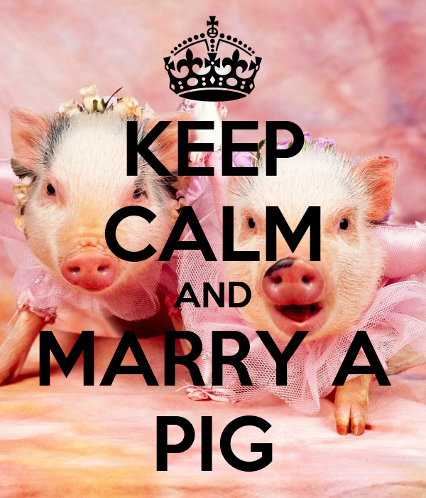 KEEP CALM AND MARRY A PIG - KEEP CALM AND CARRY ON Image ...