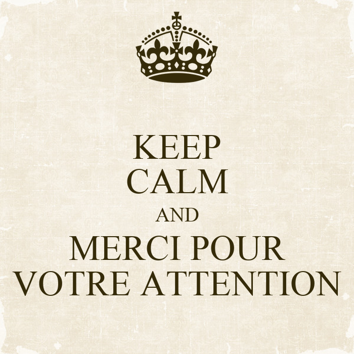 keep calm and merci pour votre attention poster lilhh keep calm o matic. Black Bedroom Furniture Sets. Home Design Ideas