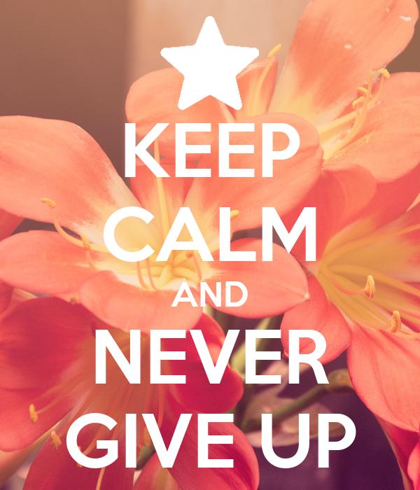 KEEP CALM AND NEVER GIVE UP Poster | ROWAN | Keep Calm-o-Matic