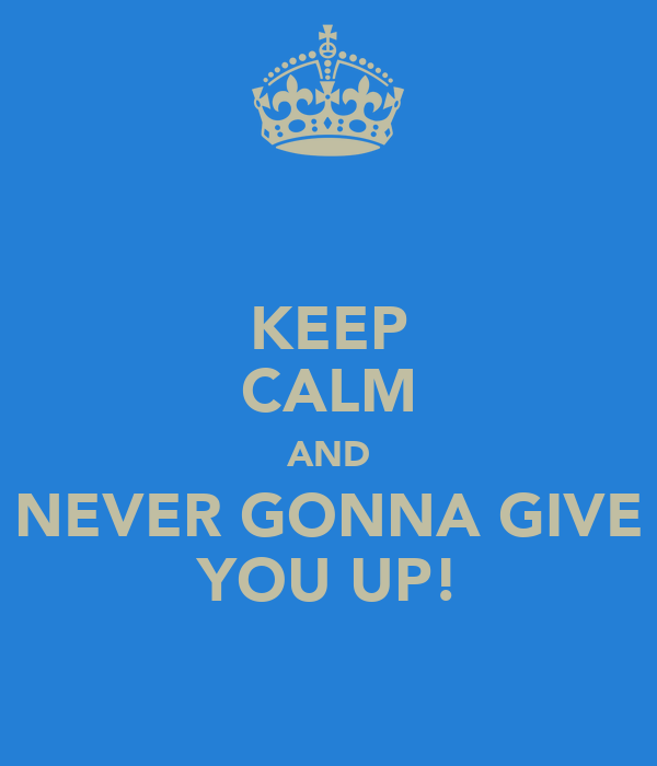 Never gonna give you up essay