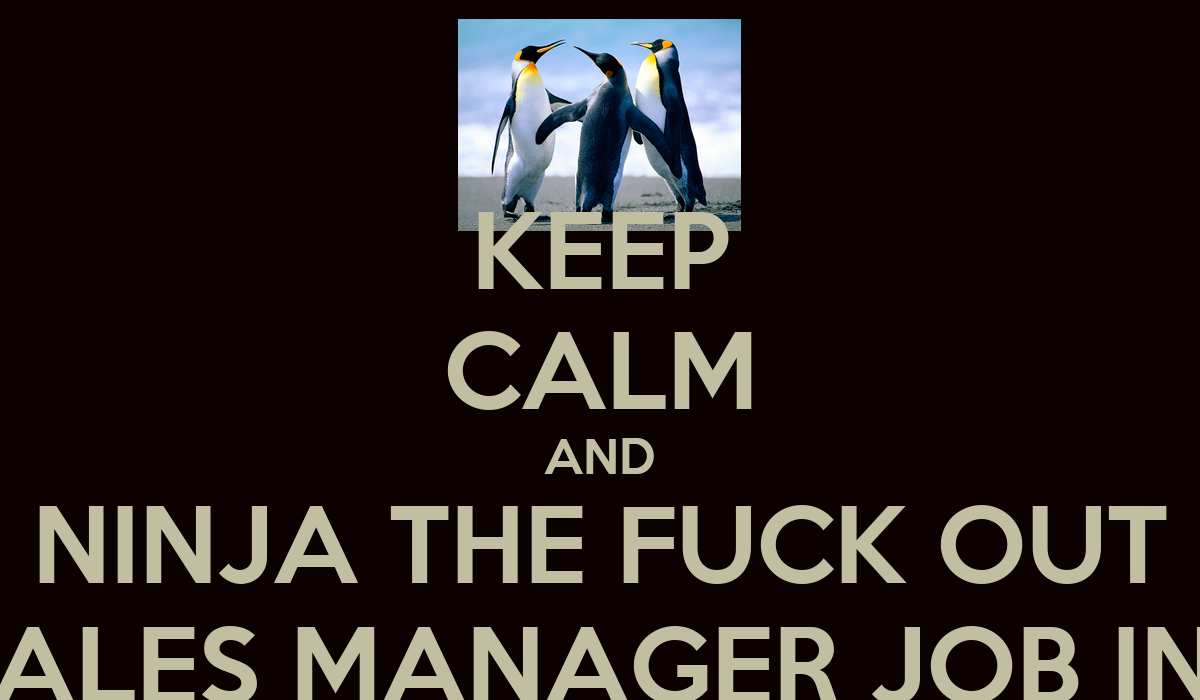 keep calm and ninja the fuck out of the s manager job keep calm and ninja the fuck out of the s manager job interview poster juraj keep calm o matic
