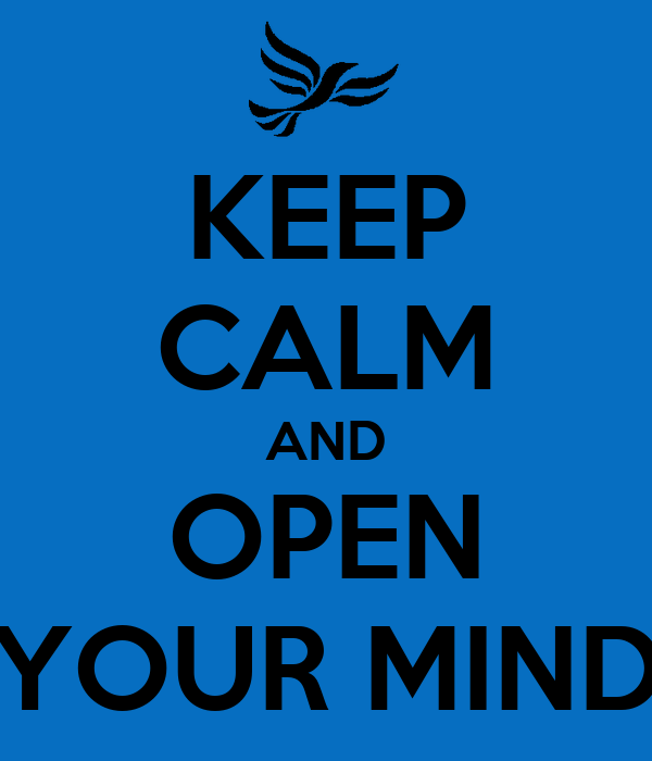 keep calm and open your mind poster guilherme giovani keep calm o matic. Black Bedroom Furniture Sets. Home Design Ideas