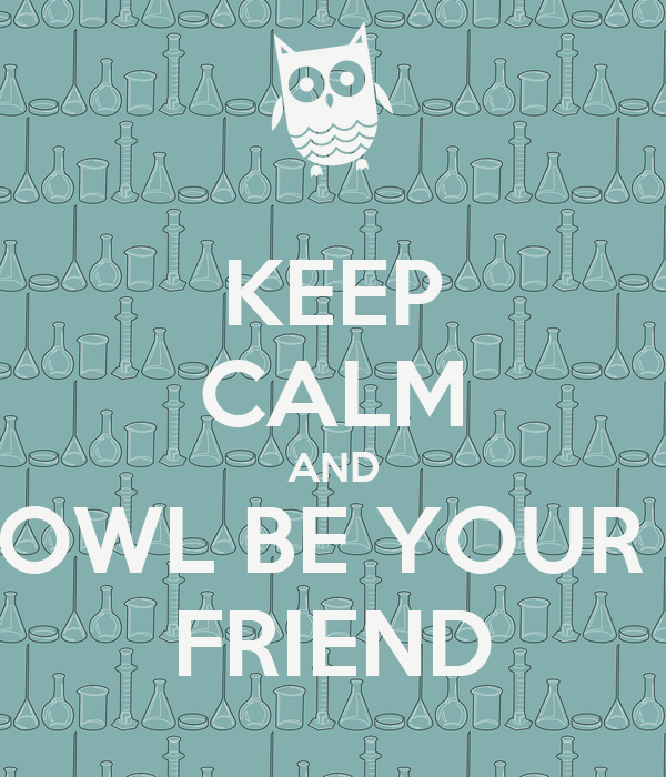 Keep Calm And Owl Be Your Friend Poster Mika Keep Calm