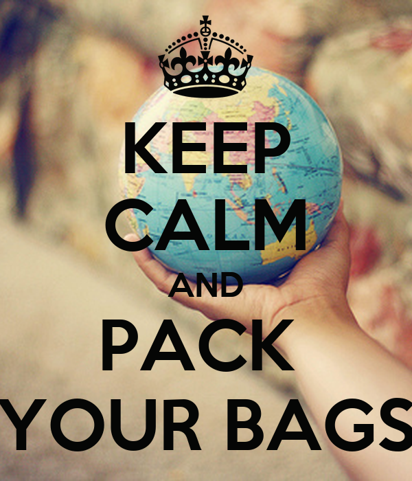 Image result for pack your bags