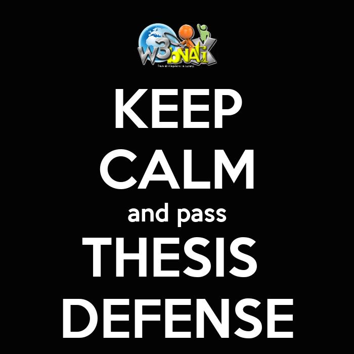 thesis defense talk