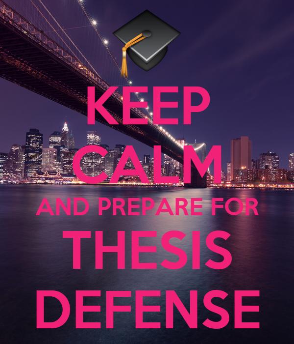 preparing dissertation defense