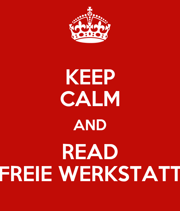 keep calm and read freie werkstatt poster cepe keep calm o matic. Black Bedroom Furniture Sets. Home Design Ideas