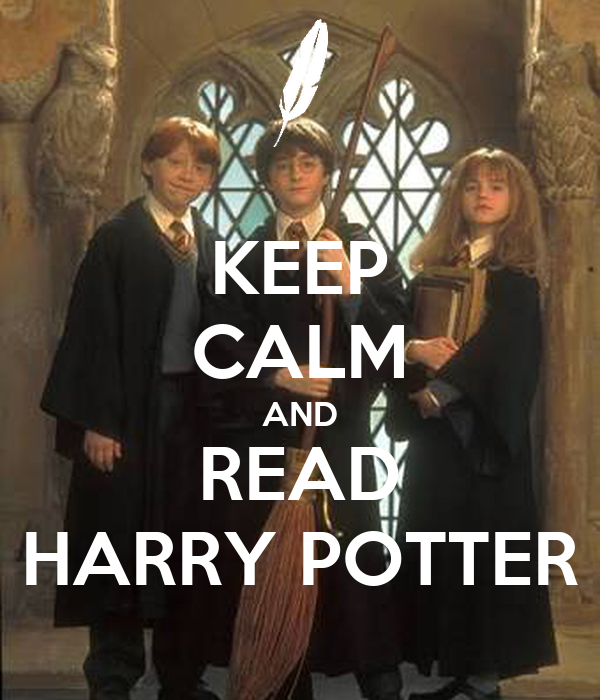 keep calm and read harry potter poster taranunsurakit
