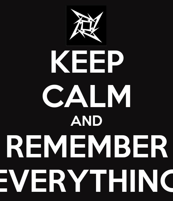 everything i remember