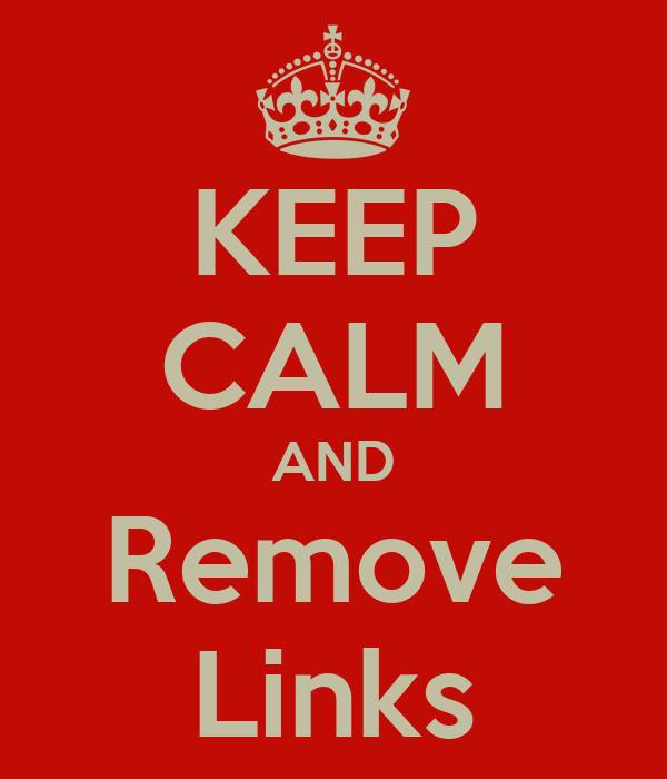 KEEP CALM AND Remove Links