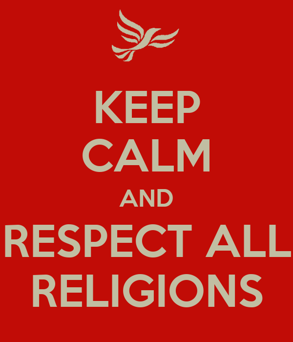 essays on respect for all religions All religions attempt to give answers to basic questions: from where did the world come from  essays related to what is religion 1 comparing religion and science.