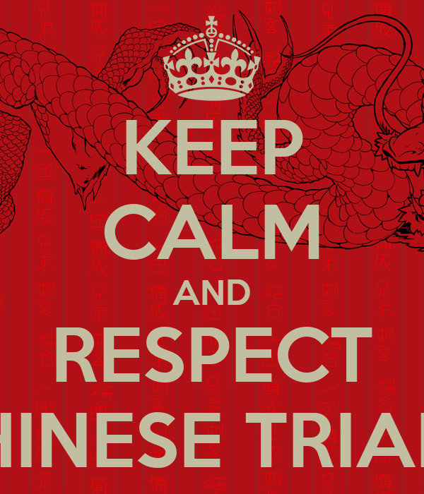 Keep Calm And Respect Chinese Triads Poster Dino Keep Calm O Matic
