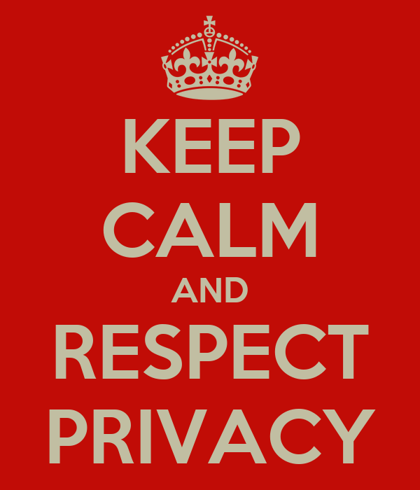 KEEP CALM AND RESPECT PRIVACY Poster | Christian | Keep ...