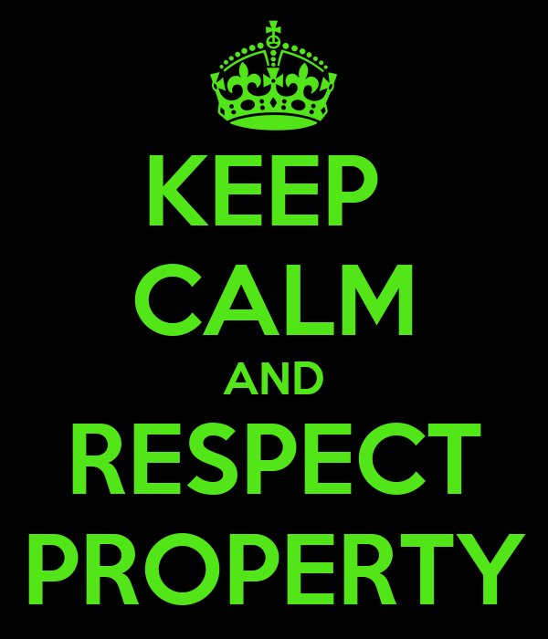 essays on respecting others property
