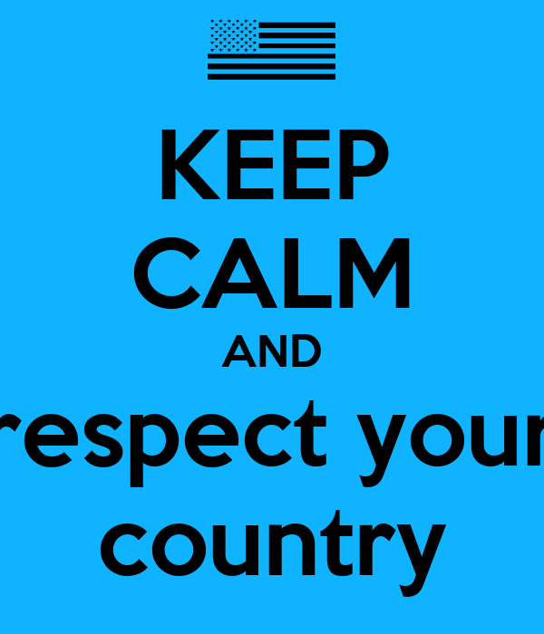 how to write a respect for country
