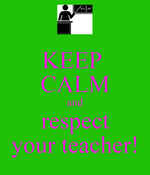 essays about respect for teachers