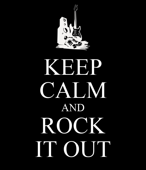 Keep calm and rock it out poster sinéad o matic
