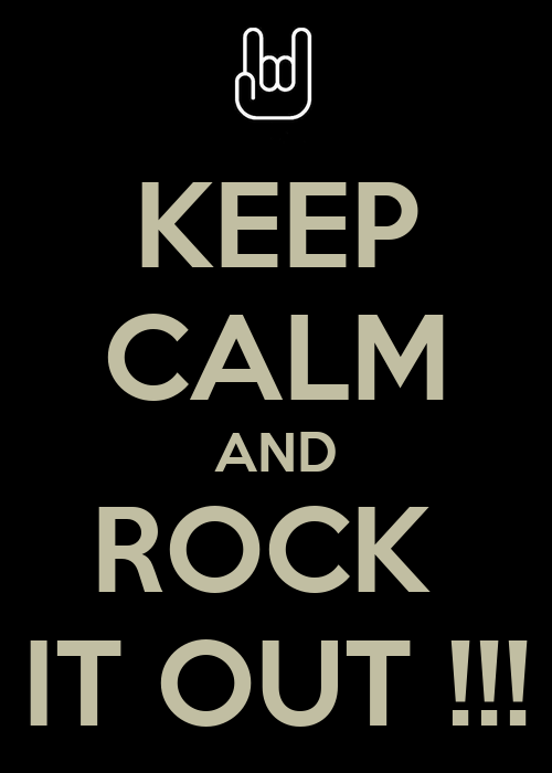 Keep calm and rock it out poster smik