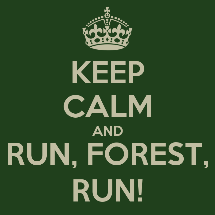 Keep calm and run forest run poster yuli keep calm o matic